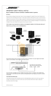 bose cinemate digital home theater speaker system download free pdf for bose cinemate gs series ii speaker system manual