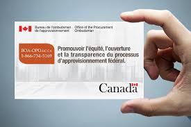 bureau gouvernement du canada bureau de l ombudsman de l approvisionnement
