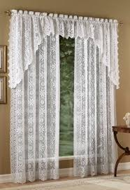 How To Hang Curtain Swags by Hopewell Lace Curtain Panels U2013 White U2013 Lorraine White Curtains