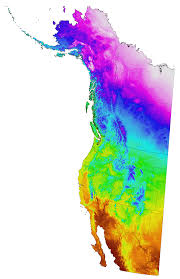 Climate Map Of North America by Current And Projected Climate Data For Western North America