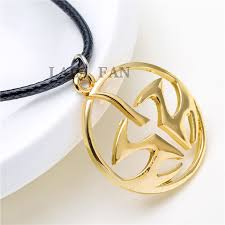 leather gold necklace images Hitman gold logo leather necklaces for men xl544 in pendant jpg
