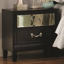 Black Wood Nightstand 6 Bedroom Set In Black Finish By Coaster 203121