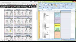 curriculum mapping with excel youtube