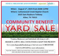 community yard sale fundraiser need volunteers volunteer mckinney