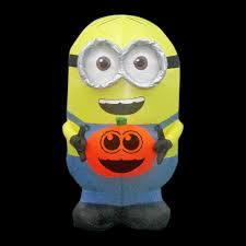 Home Depot Inflatable Christmas Decorations 21 65 In W X 28 35 In D X 35 83 In H Inflatable Minion Dave