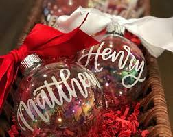 personalized glass ornament etsy