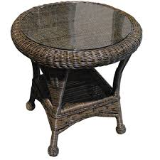 Wicker End Tables Furniture Home Design Ideas Outdoor Sale Table