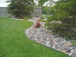 beautiful river rock with rocks landscape also design ideas