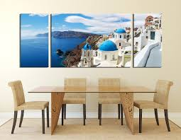 Dining Room Art Decor by 3 Piece Canvas Wall Art White Canvas Photography City Photo