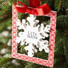 easy to make snowflake ornaments from better homes and gardens