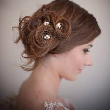 bridal hair accessories uk set of pearl blossom wedding hair pins by chez bec