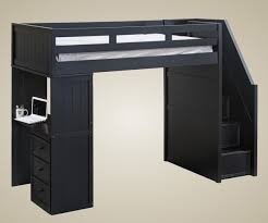 Kids Built In Desk by Matte Black Laminated Particle Wood Bunk Beds With Stairs Built In