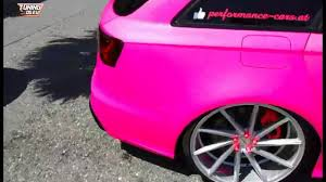 pink audi performance cars audi rs6 c7 avant folierung pink tuning youtube