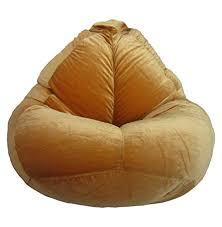 bewitch craft xxxl velvet bean bag with beans dark brown at