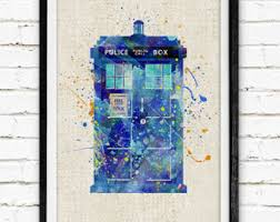 doctor who art etsy