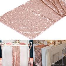 sequin table runner wholesale wholesale 12x108 rose gold chagne sequin table runner 30x275cm