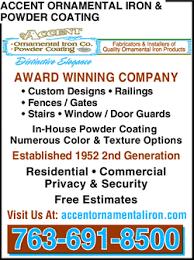 accent ornamental iron powder coating yellowbook