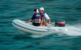 outboard boat semi rigid 4 person max ventus 8
