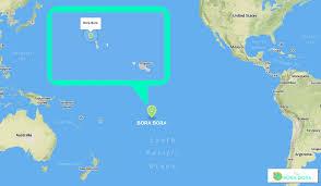 island on map where is bora bora located one bora bora