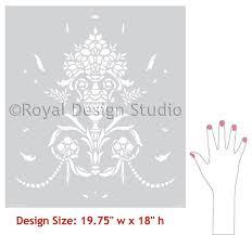 Design For Vase Painting Vase U0026 Pearls Furniture Craft Stencil Diy Halloween Decorations