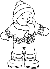 winter clothes coloring pages family fun