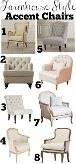Style Chairs Farmhouse Style Accent Chairs