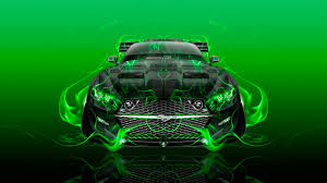 Mustang Black And Green Make Your Car Ino Vision