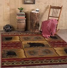 Rustic Lodge Rugs Rustic Cabin Rugs Amazon Com