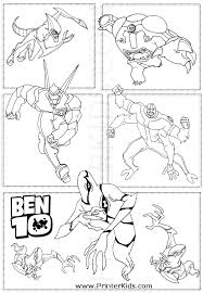 ben ten omniverse coloring pages bookmark ben 10 wildvine ben