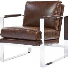 Brown Leather Accent Chair Furniture Curated Corbin Accent Chair In Brompton Milled Brown Leather