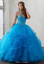 turquoise dresses at prom dress shop