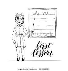 businesswoman business teacher on presentation stock vector