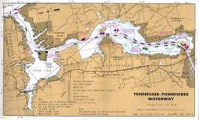 tombigbee waterway map tennessee river