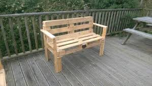 bench made out of pallets salvaged pallet bench