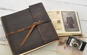 personalized leather photo album leather photo albums by blue sky papers