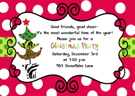 Invitation Card For Reunion Party Christmas Party Invitation Wording Theruntime Com