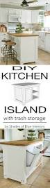 diy kitchen island with trash storage shades of blue interiors