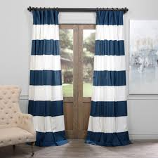 50 X 96 Curtains Exclusive Fabrics Cabana Cotton Horizontal Stripe 120 Inch Curtain
