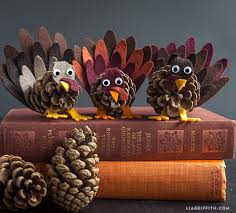felt and pinecone turkey craft lia griffith