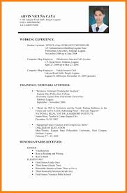 Buyer Sample Resume by Sample Resume For Filipino Teacher Augustais