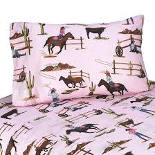 cowgirl horse print sheet set target