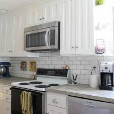 decorating interesting grey backsplash for interior kitchen