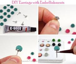popper and mimi diy earrings with embellishments