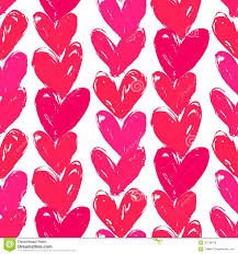 paper wrap velentine s day pattern with painted hearts stock vector