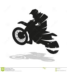 extreme motocross racing motocross racing abstract vector silhouette stock vector image