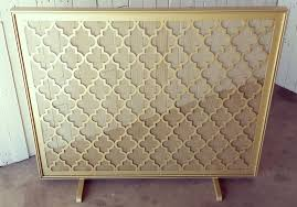 living room arch copper chambers fireplace screen with door iron