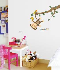 Amazoncom Monkey Hanging Over Trees NurseryKids Room Wall Art - Stickers for kids room