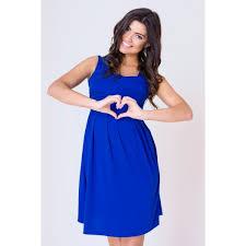 tehotenska moda letní těhotenské šaty v modré barvě s ramínky manozo cz