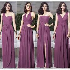 bridesmaid dresses cheap chiffon mismatched purple bridesmaid dresses