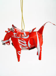 warthog tin sculpture recycled tin ornaments